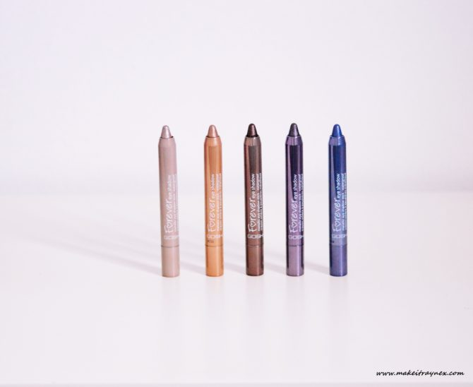 Metallic Forever Eye Shadow Sticks from GOSH {REVIEW}